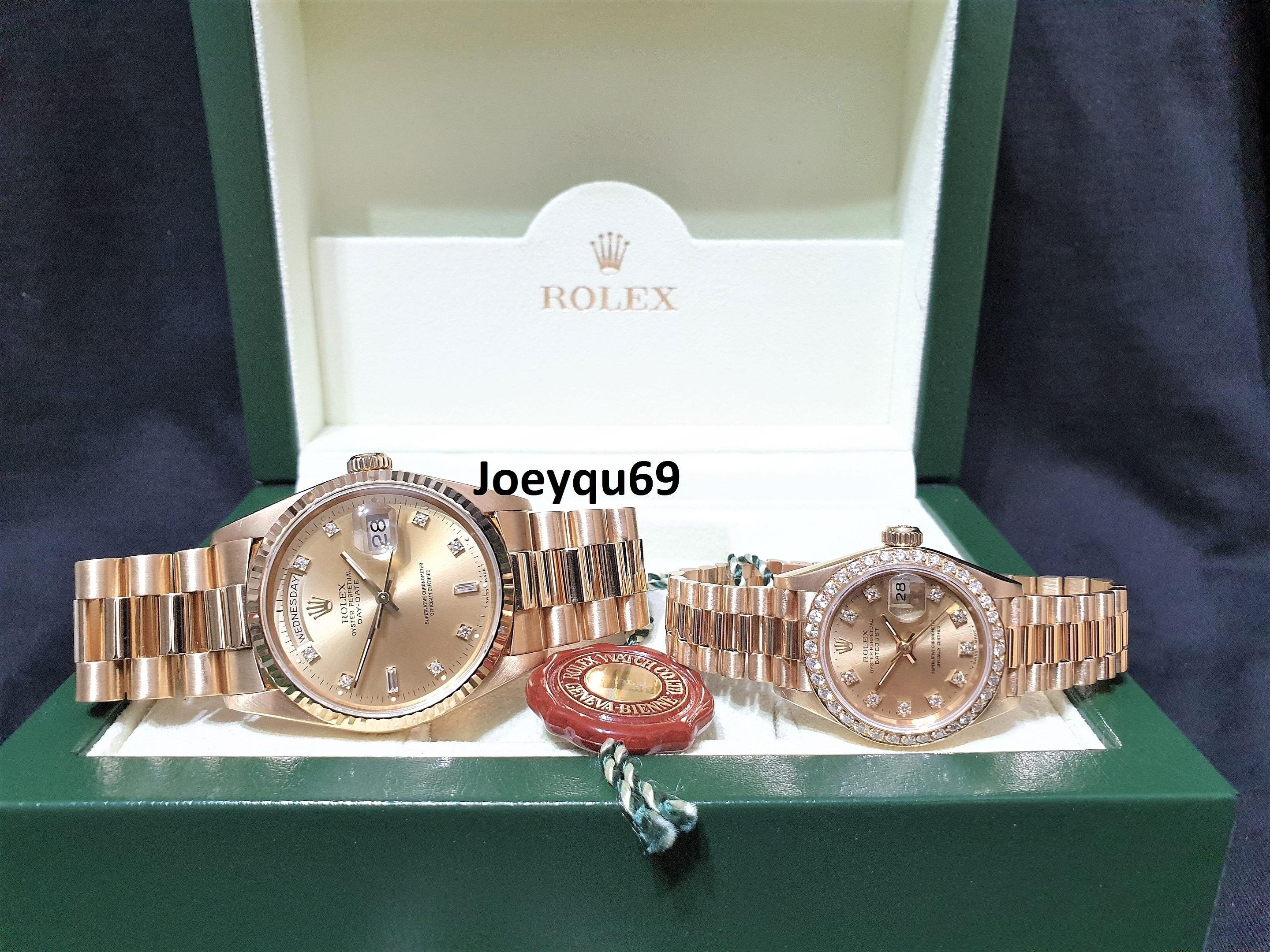 Rolex King Queen Pair Or Individual Sales President