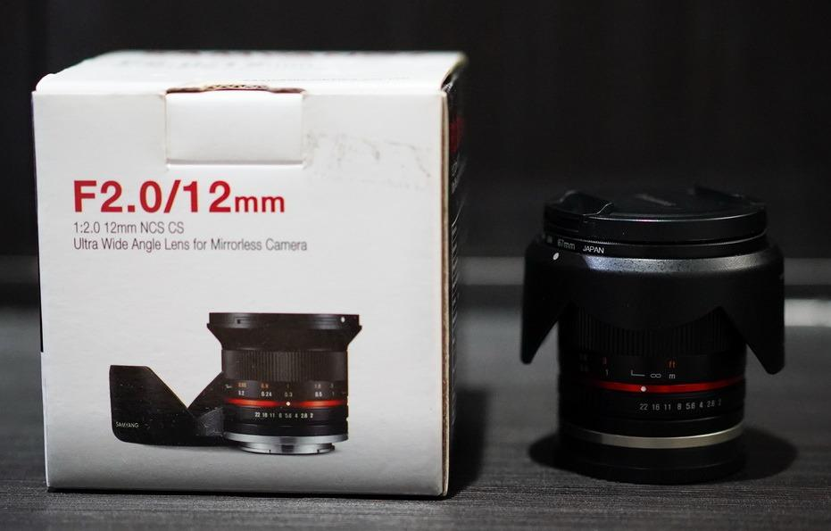 SAMYANG 12mm f/2.0 NCS CS lens - Sony E-Mount APSC Wide lensa