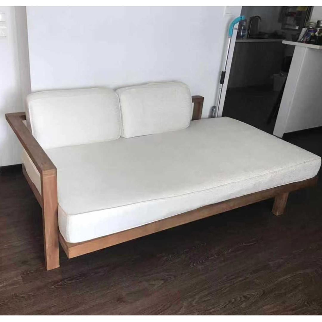 Solid Wood Sofa Bed Furniture Sofas