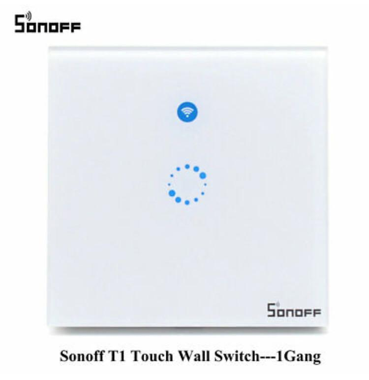 Sonoff T1 Smart WiFi RF/APP/Touch Control Wall Light Switch 1 Gang (M2227)