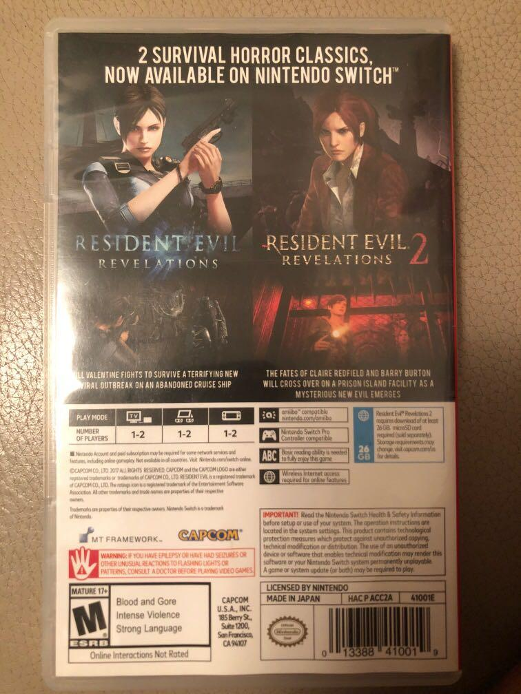 Switch Resident Evil  Revelations Collection Biohazard