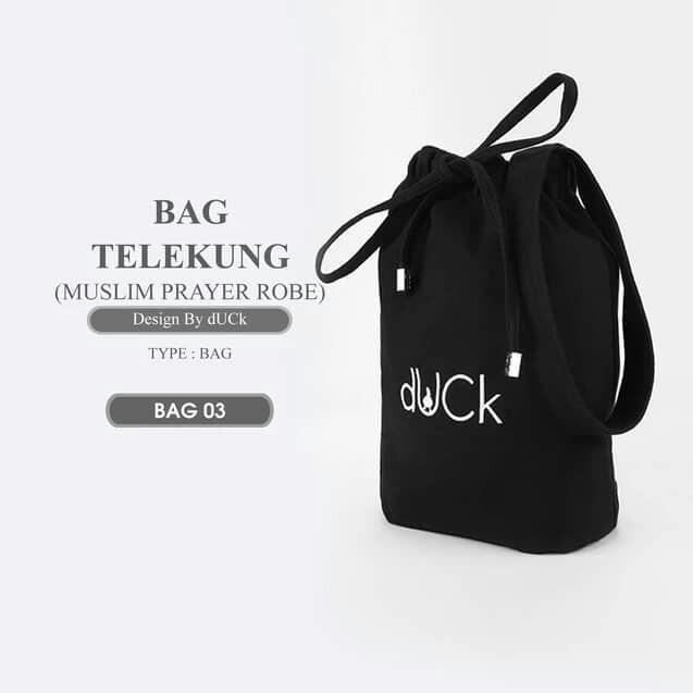 Telekung duck with bag