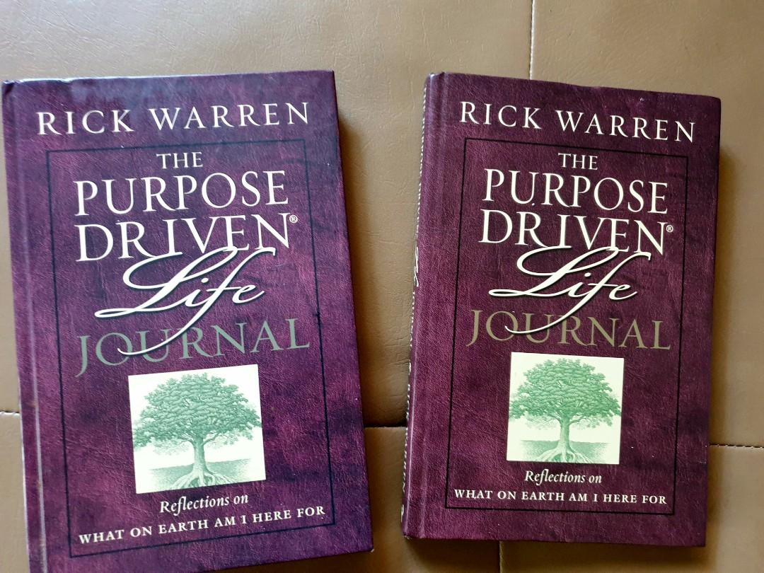 THE PURPOSE DRIVEN LIFE JOURNAL REFLECTION ON WHAT ON EARTH AM I HERE FOR by Rick Warren