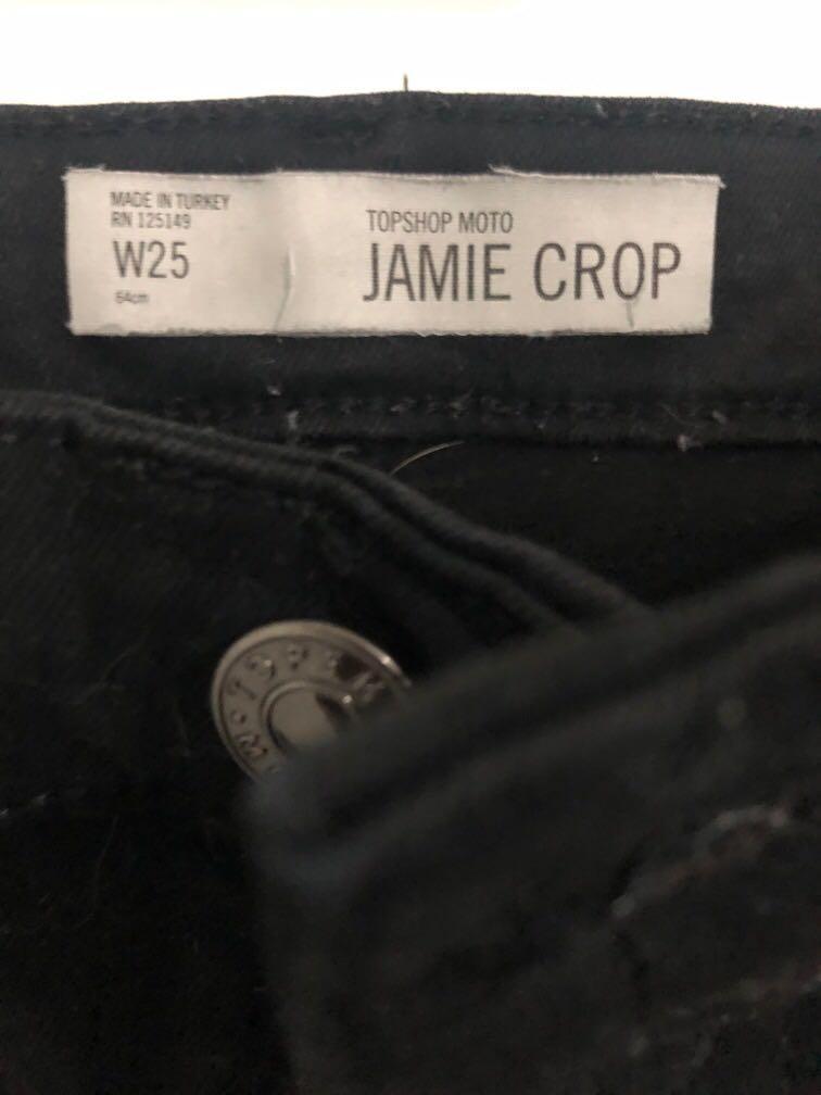 Topshop Black Jamie Cropped jeans