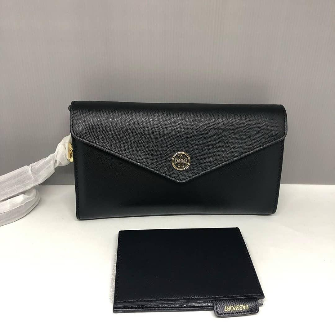 Tory Burch Robinson Expandable Concierge Clutch Crossbody 24×14 with Passport Case Included