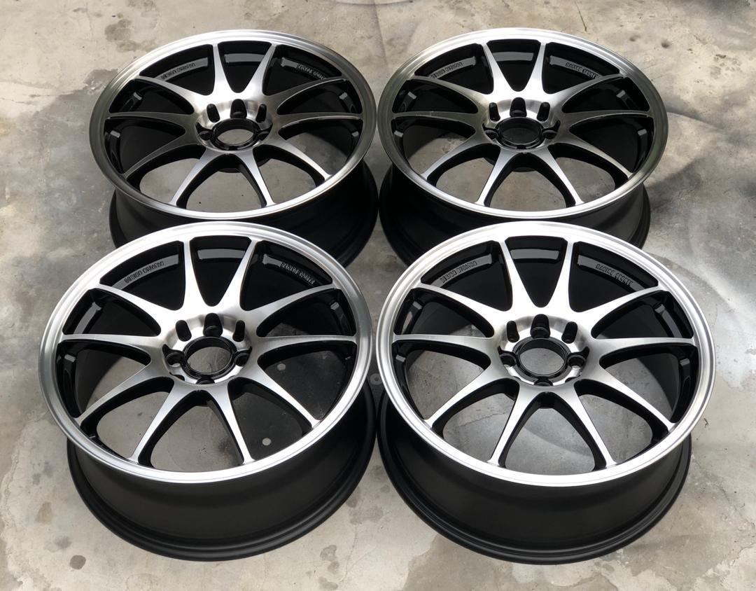Used Work Emotion CR Kai 17 inch rim wira saga myvi alza city vios jazz