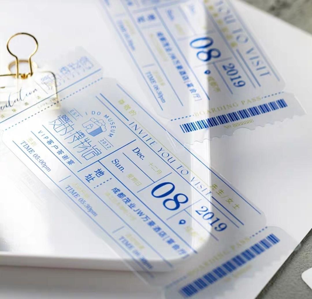 Wedding Invitation Card transparent