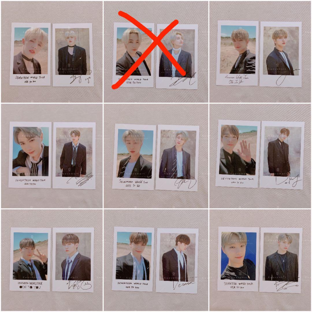 [WTS] SEVENTEEN Ode To You Official MD Polaroid Set