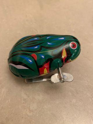 懷舊上鍊鐵皮青蛙