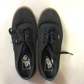 VANS black and brown gum sole