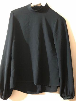 Babaton blouse forest green size S
