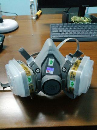 Hazel mask topeng jerebu IN STOCK⭐3M 6200 Gas Mask Safety Filter Dust Chemical Mask Painting Respirator