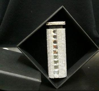 時尚水晶鑽防風打火機(白色)