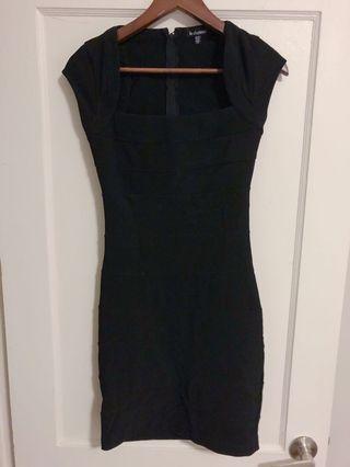 Le Chateau Banded Black Dress