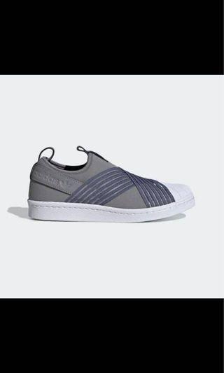 (dipake 1x) adidas superstar slip on grey 37 1/3
