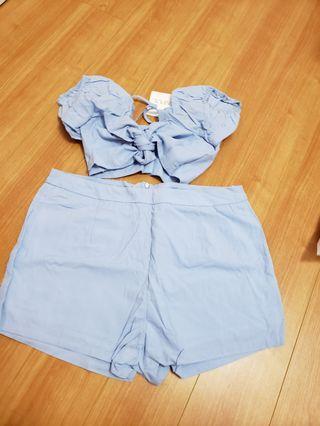 Zaful blue 2 piece outfit