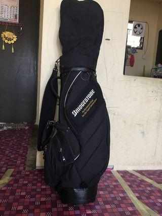 Set Golf + Bag Bridgestone + Glove Srixon + Balls