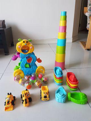Selling bundle of colourful good quality learning toys