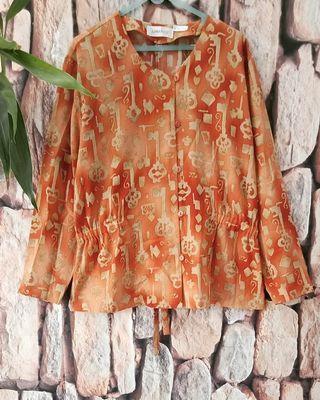 Vintage blouse lengan panjang