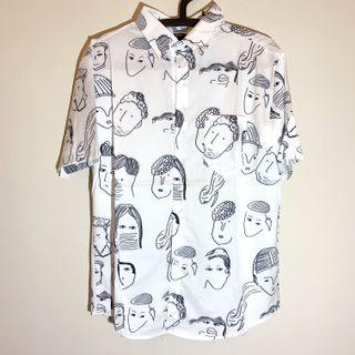 Joan《滿版印花襯衫》文青 日系 港風 短袖襯衫 寬鬆上衣