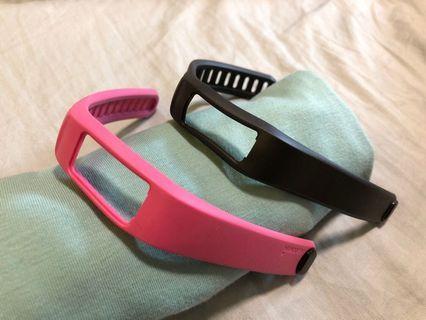 Garmin 佳明 vivofit 替換錶帶 錶帶 腕帶 正品vivofit 手環 替換腕帶 運動手環 黑色L 粉色S