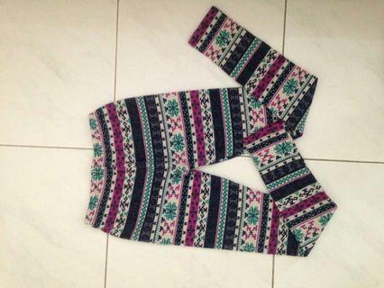 Legging rajut pattern