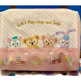 日本帶回 東京迪士尼 達菲Duffy 雪莉玫 躲貓貓 化妝包