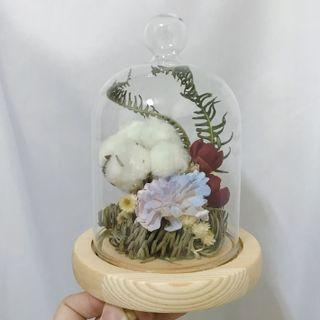 [花好玥圓]乾燥花玻璃罩 乾燥花 乾燥花束