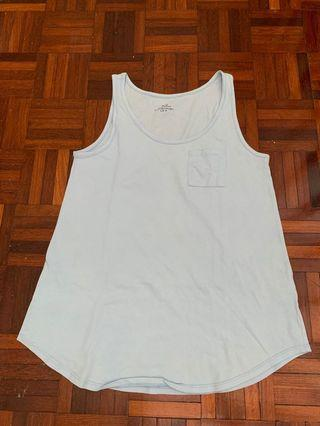 Light blue sleeveless tank top