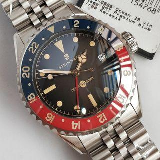 Brand new Steinhart Ocean 39 Vintage GMT Premium  BLUE/RED PEPSI CERAMIC