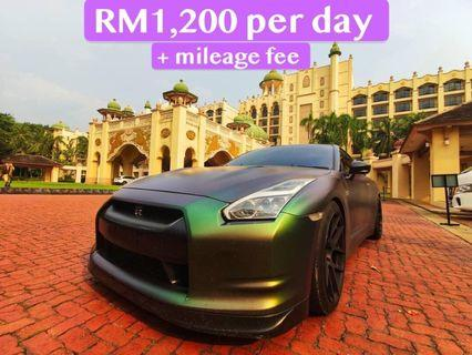 Nissan GTR R35 for rent