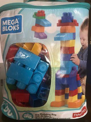 Mega Bloks 60 piece big building bag blocs