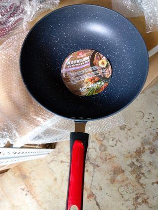 韓式麥飯石不沾鍋炒鍋