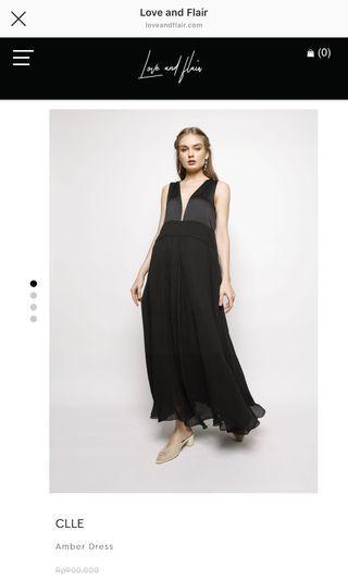 Love & Flair Long Black Dress