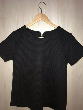 Women Blouse Embossed in Black Free Size
