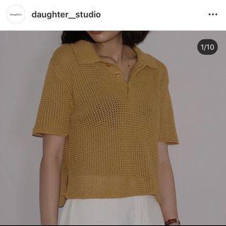 daughter studio 向日葵短袖針織Polo衫