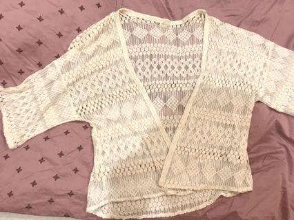 Zara米色罩衫