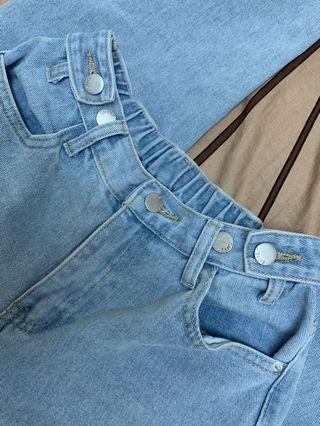 五釦牛仔褲