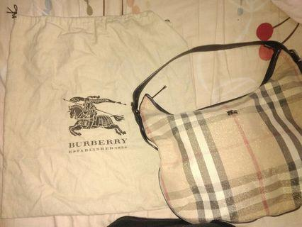 Vintage Burberry Shoulder Tote Bag