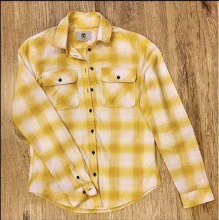 Timberland yellow plaid long sleeve