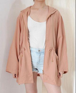 Peach Long Flowy Jacket