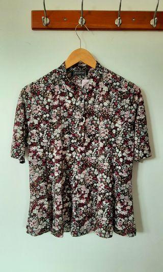 Kemeja Floral / blouse bunga / atasan bunga