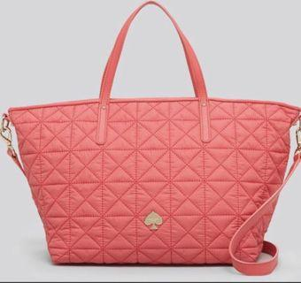 Kate Spade Leroy Street Quilted Nylon Strawberry