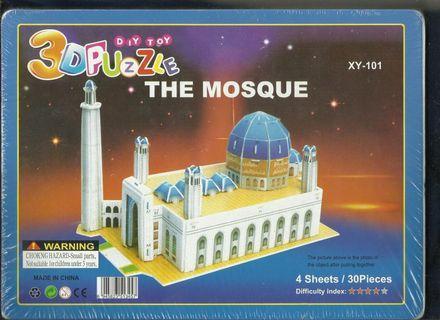 3D Puzzle / Mainan Edukasi bentuk masjid