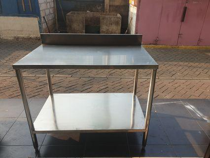 Meja Stainless 2 Susun uk.60x100 cm T.80 cm