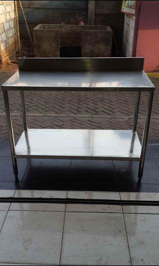 Meja Stainless 2 susun uk.108x68x T.80 cm
