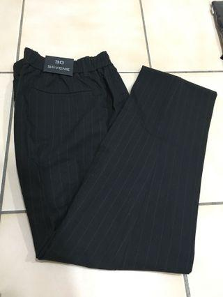 全新✨直條紋黑色西裝長褲