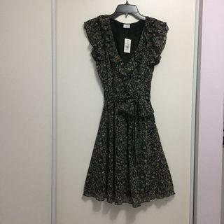 Ruffled Sleeveless Dress (Size Small)