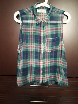 Abercrombie & Fitch plaid sleeveless top