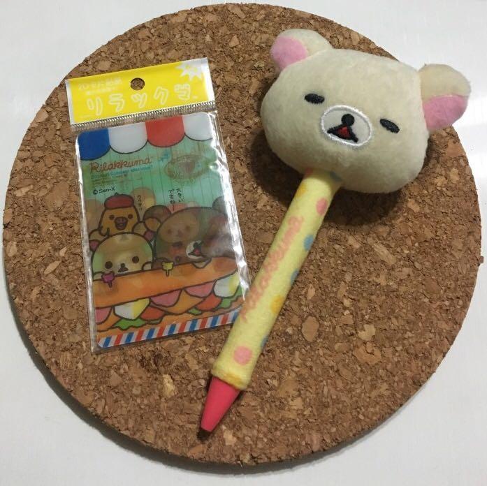 拉拉熊2D卡片貼紙+拉拉熊原子筆